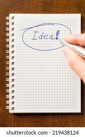 Write down an idea to notebook
