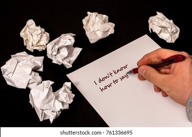Suicide note images stock photos vectors shutterstock write a letter but do not find the right words expocarfo Image collections