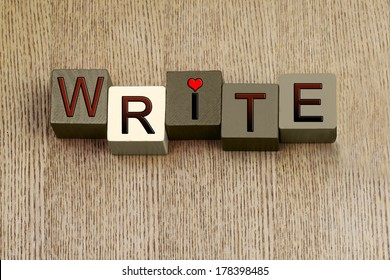 Write - sign for love of creative writing, from fiction and non fiction books, novels to writing poetry and biographies - for writers, authors, teaching English language and education.