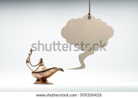 write a wish cloud from ancient magic lamp