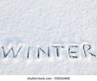 write word on snow