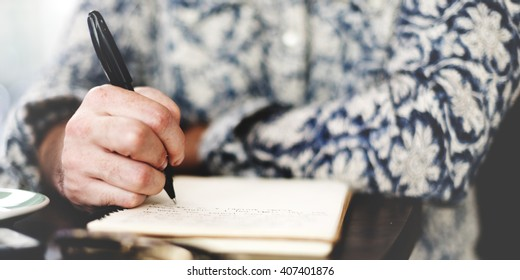Writer Journalism Imagination Novelist Message Concept