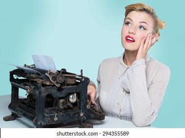 Writer, woman, type.