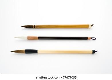 Writing brush isolated on white background