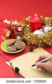 Writing a Christmas wish list