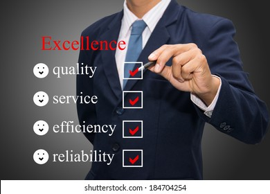 Writing excellence concept.