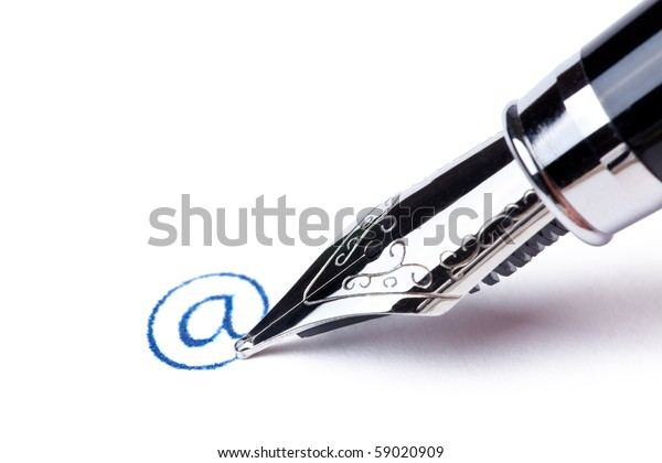 writing message with black pen : at