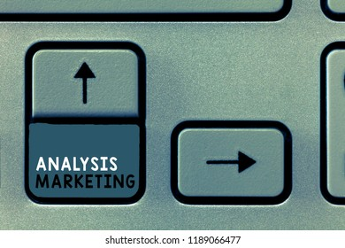 Writing note showing Analysis Marketing. Business photo showcasing Quantitative and qualitative assessment of a market