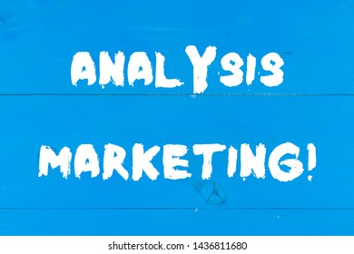 Writing note showing Analysis Marketing. Business photo showcasing Quantitative and qualitative assessment of a market Wooden texture old vintage background horizontal boards holes.