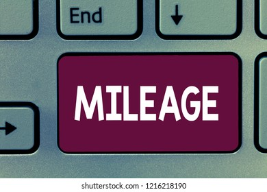 Writing note showing Mileage. Business photo showcasing Number of miles travelled or covered Display panel Car instrument