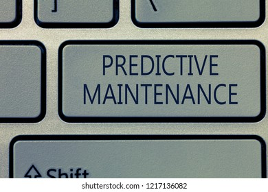 Writing note showing Predictive Maintenance. Business photo showcasing Predict when Equipment Failure condition might occur
