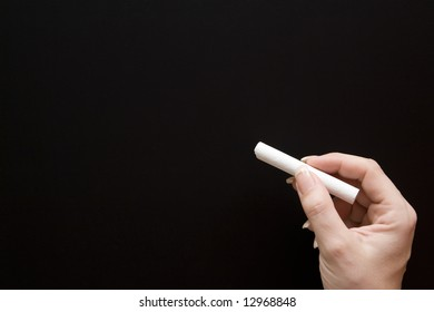 Writing on a Blank Chalkboard
