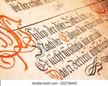 Gothic Calligraphy Images, Stock Photos & Vectors | Shutterstock