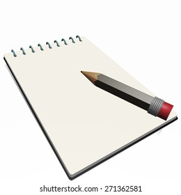 Writing pad with pencil