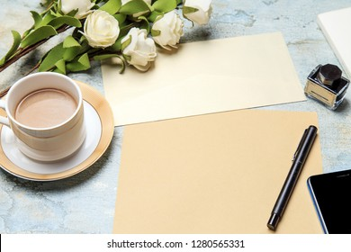 Desk Books Flowers Pen Images Stock Photos Amp Vectors