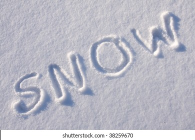 "writing text ""SNOW""  in sunny d"