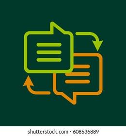 Writing translation icon. Outline illustration of writing translation  icon for web