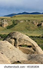 Writing-On-Stone Provincial Park, Alberta, Canada and Sweetgrass Hills of Montana, USA.