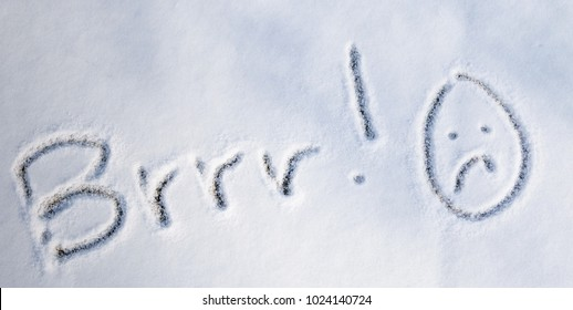 Writings in snow Brrrr!-Season photography.