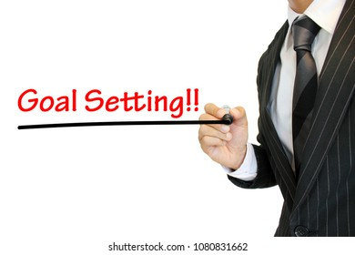 """""""Goal setting"""" written by a young businessman"""