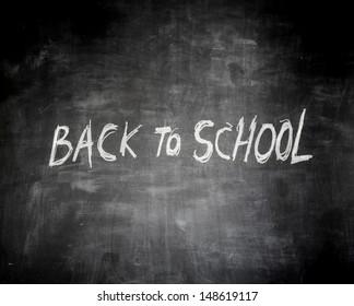 written with chalk on blackboard