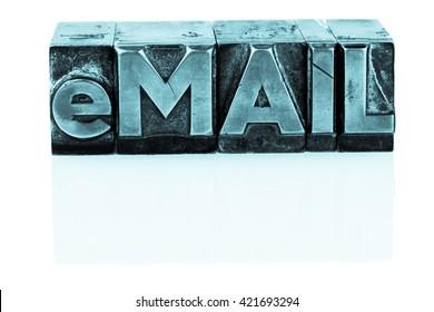 written email in lead letters