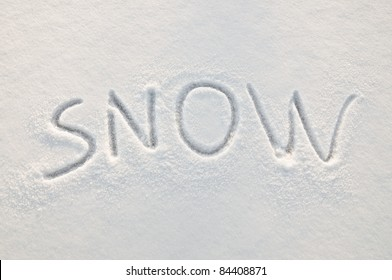 Written word on a snow white field