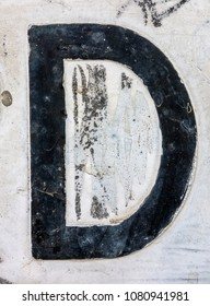 Written Wording in Distressed State Typography Found Letter