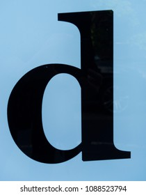 Written Wording in Distressed State Typography Found Letter D