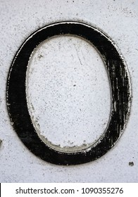 Written Wording in Distressed State Typography Found Letter O 0