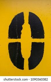 Written Wording in Distressed State Typography Found Number 0 Zero