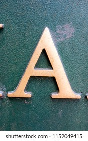 Written Wording in Distressed State Typography Found Letter A
