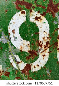 Written Wording in Distressed State Typography Found Letter Number Nine 9