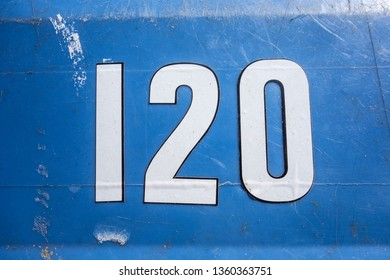 Written Wording in Distressed State Typography Found Number 120