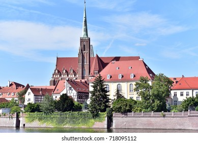 Wroclaw Cathedral and Collegiate Church on the Cathedral Island, Wroclaw, Lower Silesia, Poland