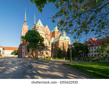 Wroclaw Cathedral at sunny summer day, Poland