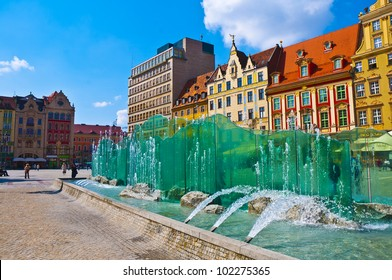 Wroclaw City center, Fountain and Market Square tenements