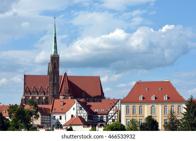 Wroclaw, Lower Silesia, Poland - June 16, 2016: Holy Virgin Mary's Church on the Cathedral Island of Wroclaw in Poland - Ostrow Tumski.