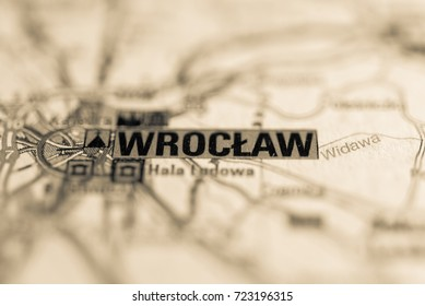 Wroclaw on map.
