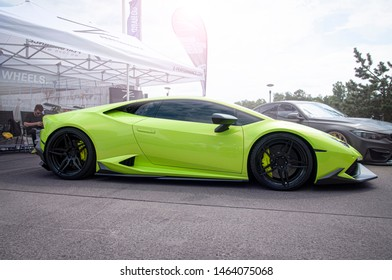 Wroclaw, Poland - 07/06/2019: Lamborghini Huracan at Raceism Event 2019