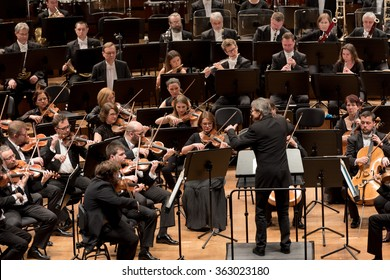 Wroclaw, Poland. 15th January, 2016. Opening weekend Wroclaw European Capital of Culture in 2016. Concert the Symphony Orchestra of the National Forum of Music under the baton Ernst Kovacic