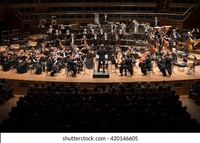 Wroclaw, Poland. 15th January, 2016. Concert the Symphony Orchestra of the National Forum of Music under the baton Ernst Kovacic project Beautiful Mind - Mercouri / Xenakis