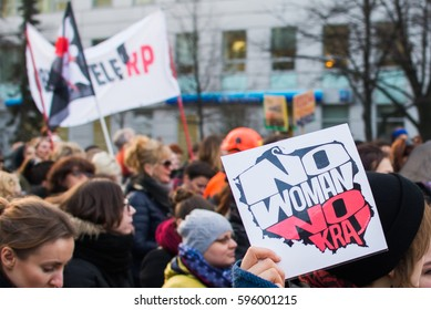 """Wroclaw, Poland, 2017 08 03 - Womens protest """"Strajk Kobiet"""" on Womans Day against Polish government PIS,  on 08,03,2017 in Wroclaw, Poland"""