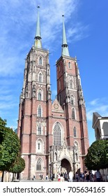 WROCLAW - POLAND / 30.07.2017: Wroclaw Cathedral of St John the Baptist