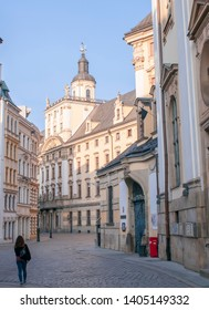 Wroclaw, Poland, April 2019. University of Wroclaw, seen from the back.