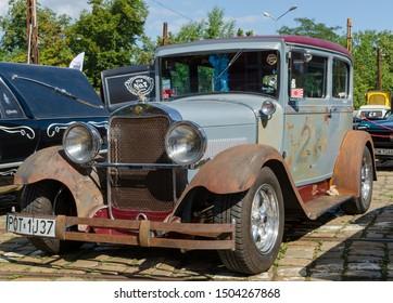 WROCLAW, POLAND - August 11, 2019: USA cars show - 1927-1930 Studebaker Erskine Model 50 requiring restoration.