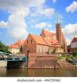 Wroclaw, Poland - city architecture. Ostrow Tumski island - oldest part of the city.