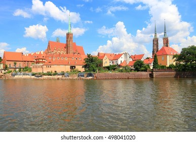 Wroclaw, Poland - city architecture. Ostrow Tumski - oldest part of the city.