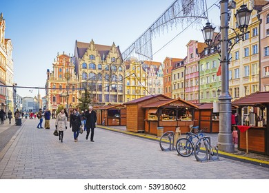 WROCLAW, POLAND - DECEMBER 5, 2016: Christmas Holiday Market