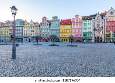 Wroclaw, Poland - January 5 2017: Old Town in Wroclaw
